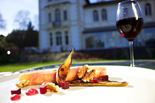 Dining at The Falcondale Hotel and Restaurant, Ceredigion