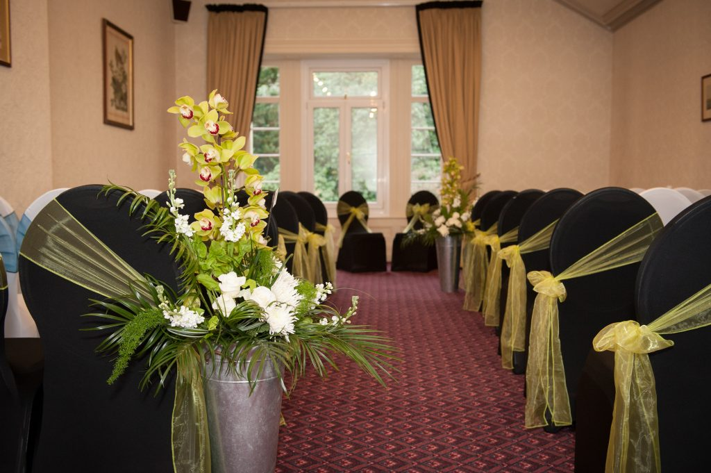 Civil ceremony set-up in the Harford suite