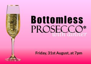 Bottomless Prosecco at The Falcondale