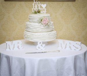 American stacked wedding cake