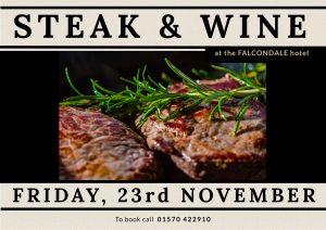Steak and Wine evening