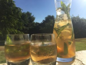 Pimms carafe and glasses