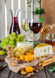 Cheese and wine matching