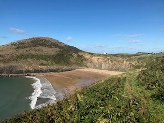 Mwnt on the Cardigan bay coastal path