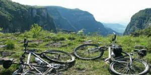 Mountain biking together