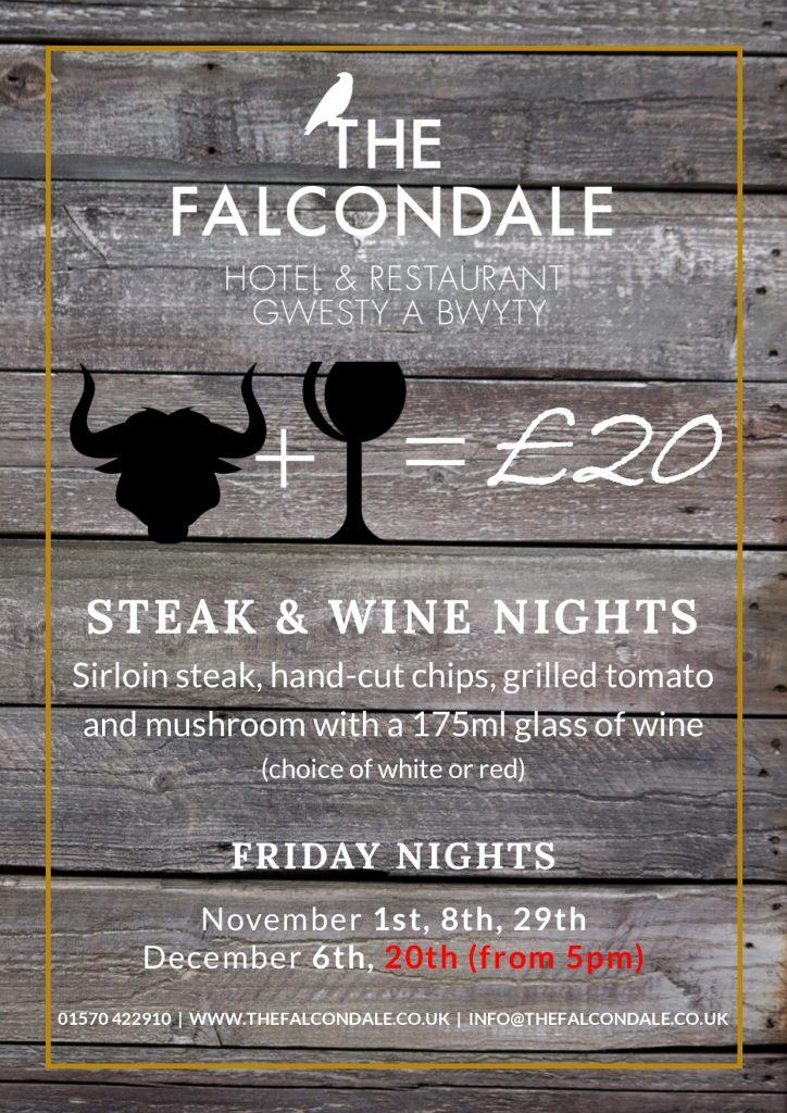 Steak and wine night