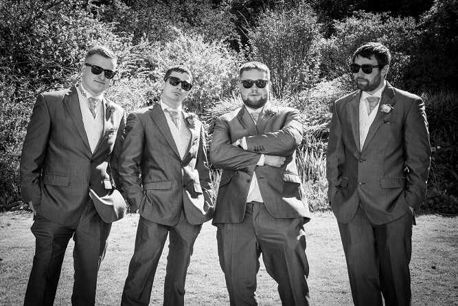 Groomsmen having fun